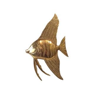 Brass Angel Fish Wall Hanging