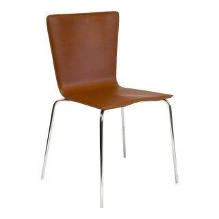 Brazilian Modern Saddle Leather Side Chair