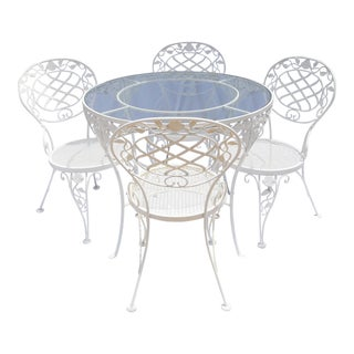 Iron & Glass Cafe Dining Set