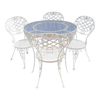 Iron & Glass Cafe Dining Set