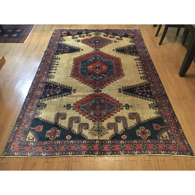 Antique Hand Knotted Persian Rug - 10 X 7 - Image 2 of 11