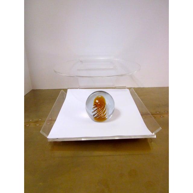Image of Blenko Air Twist Swirl Paperweight