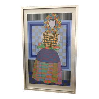 Victor Vasarely Fille Femme Artwork XVII/CL