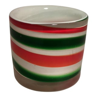 Candy Cane Colored Candle Holder