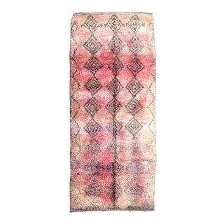 Vintage Moroccan Boujad Rug - 5′2″ × 10′10″