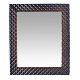 Vintage Pyramid Pattern Tramp Art Mirror