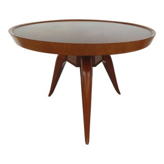 French Art Deco Marquetry Table Style of Jean Michel Frank