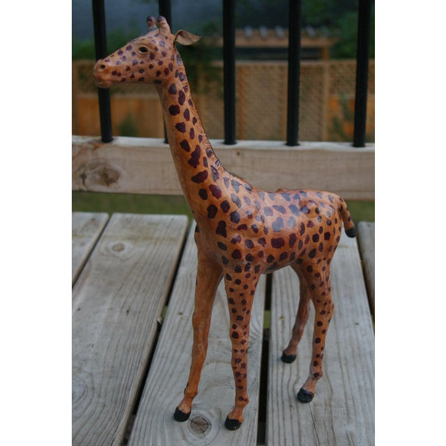 Image of Vintage Leather Giraffe