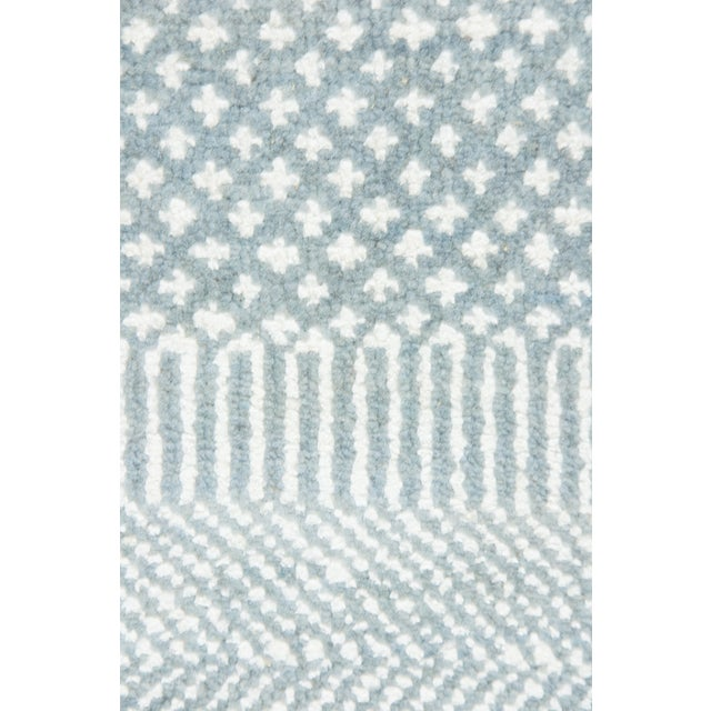 """Image of New Tonal Stripe Hand Knotted Area Rug - 9'1"""" x 12'"""