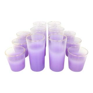 Mid-Century Lilac Blendo Glassware - Set of 12