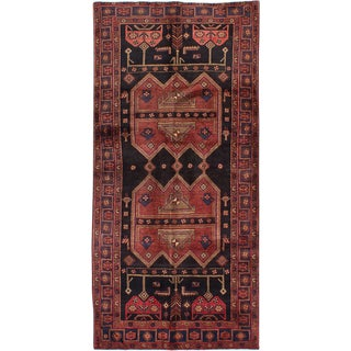 "3'11"" x 8'4"" Zanjan Vintage Persian Rug"
