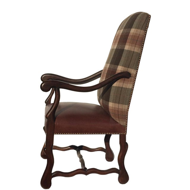 Image of New Pair Country Arm Chairs Ralph Lauren Plaid