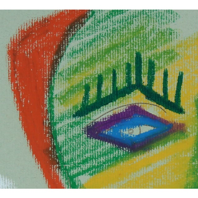 Image of 1972 Abstracted Portrait Drawing