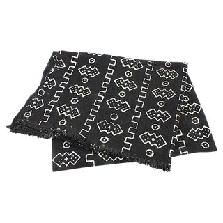 Black & White African Mud Cloth Throw