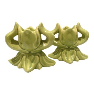Claire Lerner Candlestick Holders - A Pair