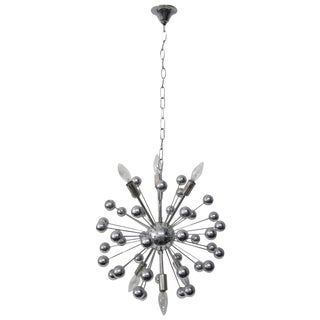 Italian Multi-Spherical Nickel Sputnik Chandelier