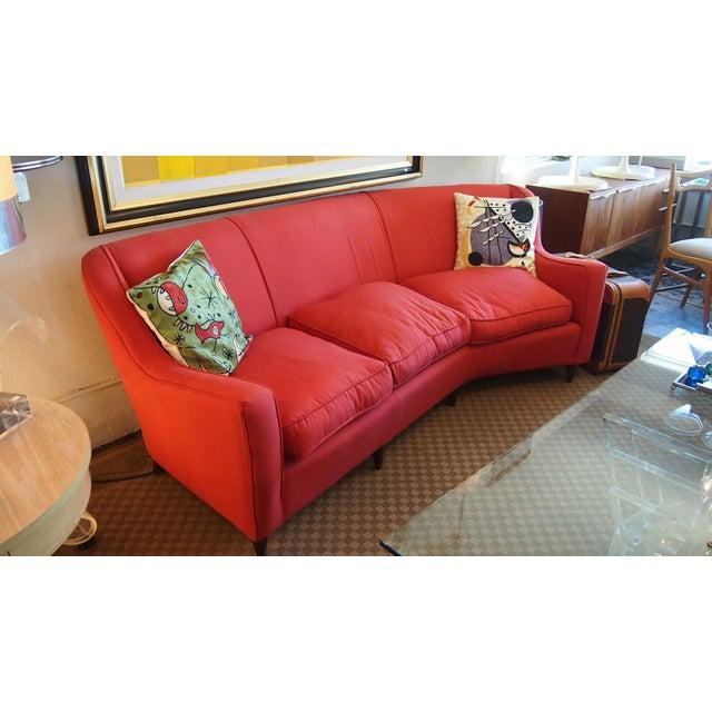 Mid-Century Modern Italian Red Sofa - Image 3 of 3