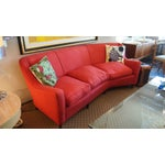Image of Mid-Century Modern Italian Red Sofa