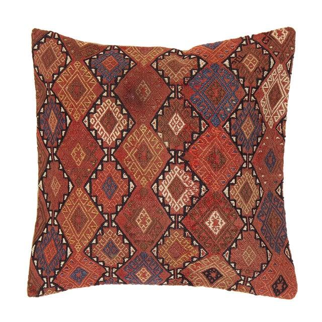 Image of Pasargad Patterned Decorative Vintage Kilim Pillow