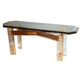 Lucite Console Table, By Charles Hollis Jones