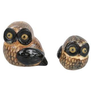 Otagiri OMC Japanese Porcelain Owls - A Pair