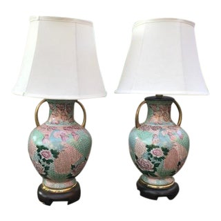 Frederick Cooper Chinoiserie Lamps - a Pair