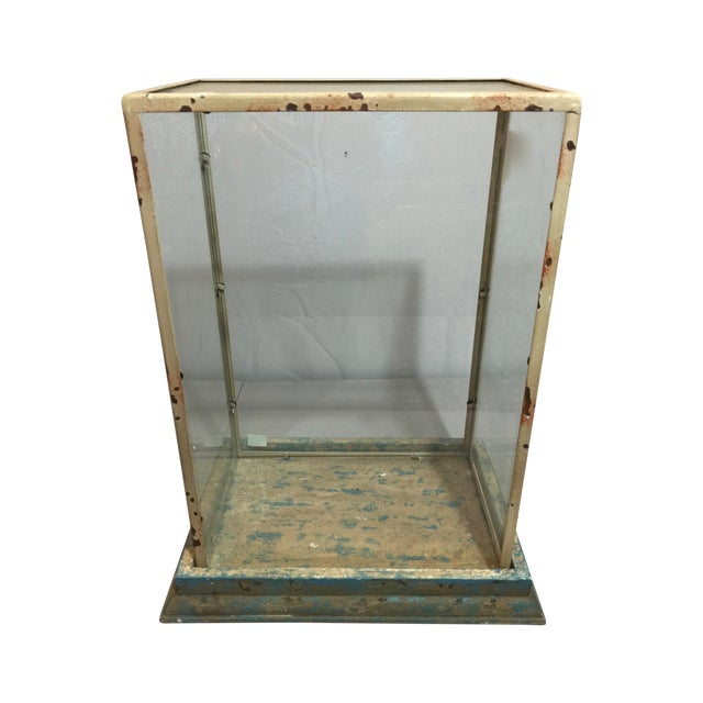 Antique Shabby Chic Display Case - Image 1 of 6