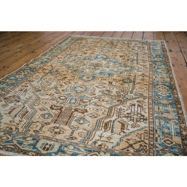 "Distressed Floral Hamadan Rug - 4'3"" x 6'10"" - Image 4 of 5"