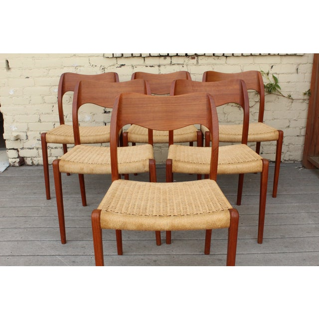 Moller Model 71 Teak Dining Chairs - Set of 6 - Image 4 of 11