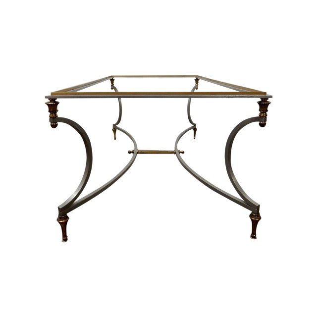 Vintage French Decorative Coffee Table With Brass - Image 1 of 11