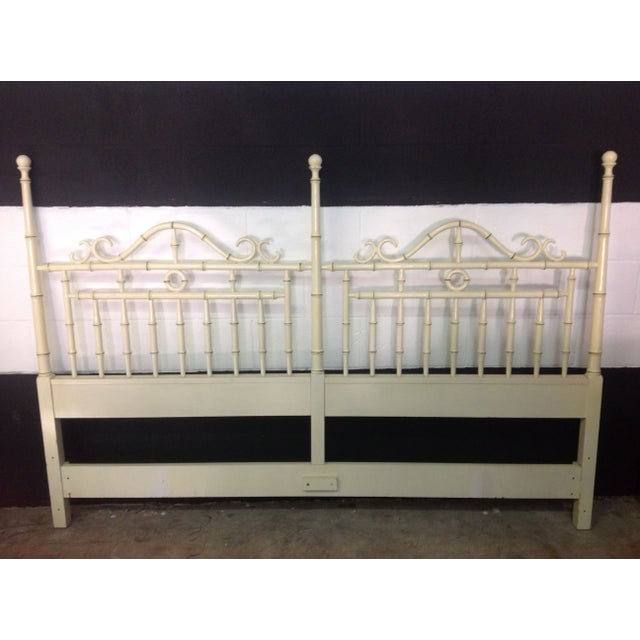 Faux Bamboo Headboard By Drexel - King Size - Image 4 of 6