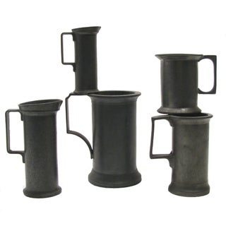 European Pewter Measure Collection - Set of 5
