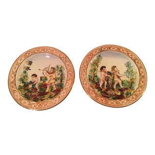 Vintage Italian Wall Plates- Set of 2