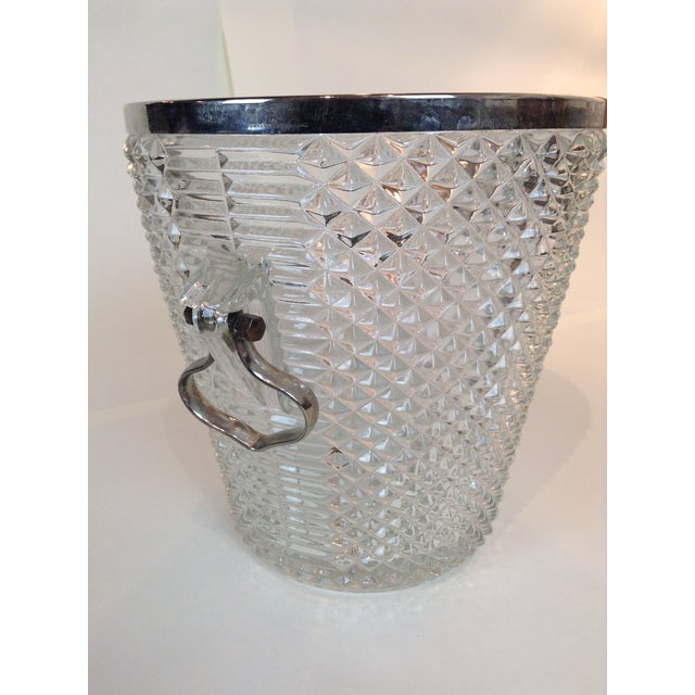 Image of Pressed Glass Champagne Bucket