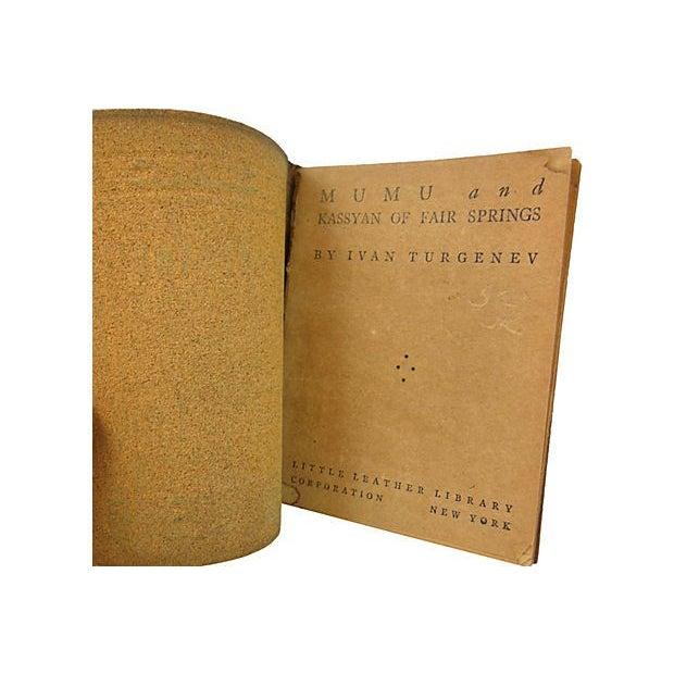 1920s Turgenev's Mumu Leather Book - Image 2 of 3