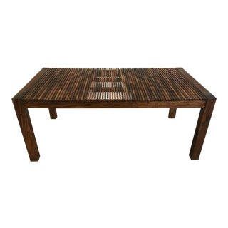 African Rosewood Slatted Wood Dining Table