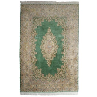 "RugsinDallas Hand Knotted Wool Persian Kerman Rug - 6'1"" X 8'5"""