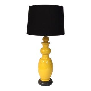 Mid-Century Yellow Table Lamp
