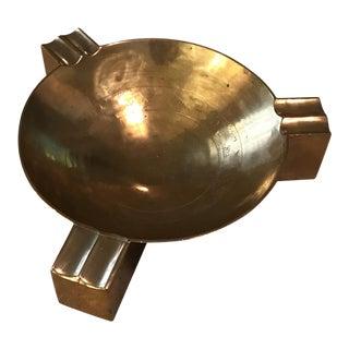 Vintage Mid-Century Brass Ashtray