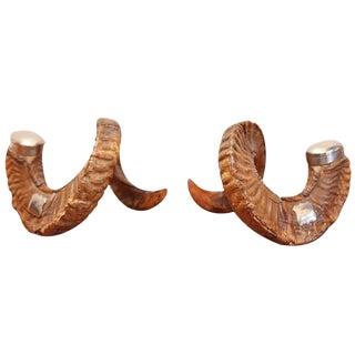 English Ram's Horn Inkwells