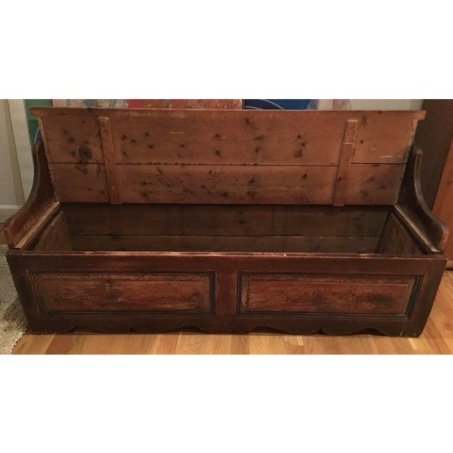 Image of Antique Wooden Storage Bench