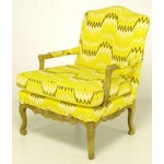 Image of Pair Erwin-Lambeth Louis XV Style Arm Chairs & Ottoman