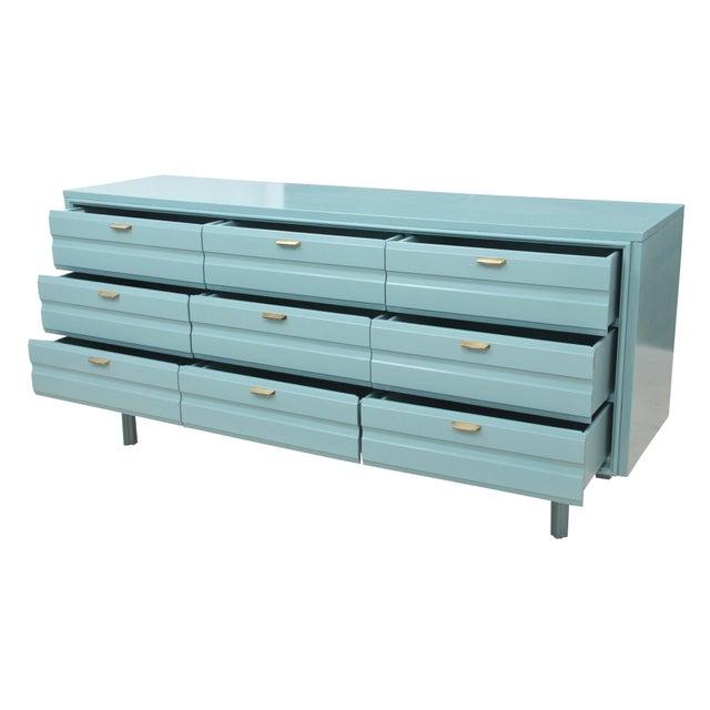 Mid-Century Blue Dresser - Image 3 of 7