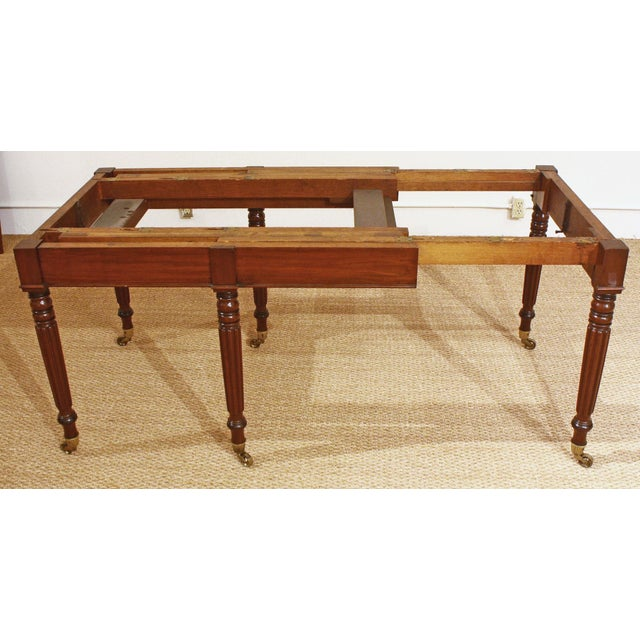 ENGLISH REGENCY DINING TABLE IN THE MANNER OF GILLOWS - Image 8 of 8