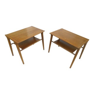Mid-Century Modern Drexel Profile End Tables - A Pair
