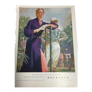 1948 Hockanum Woolens Polo Ad