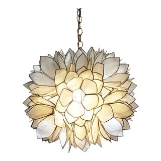 Lotus Flower Capiz Lantern