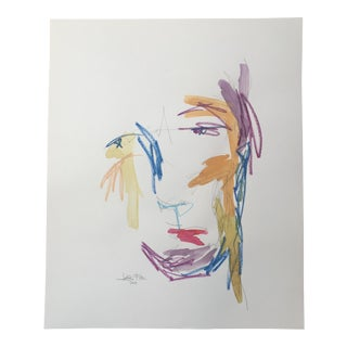 Abstract Original Watercolor Face Painting