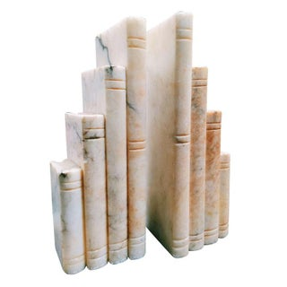 1930s French Alabaster Bookends