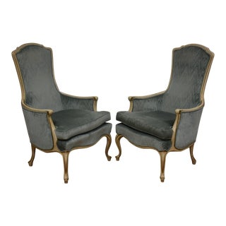 French Provincial Style Lounge Chairs- a Pair